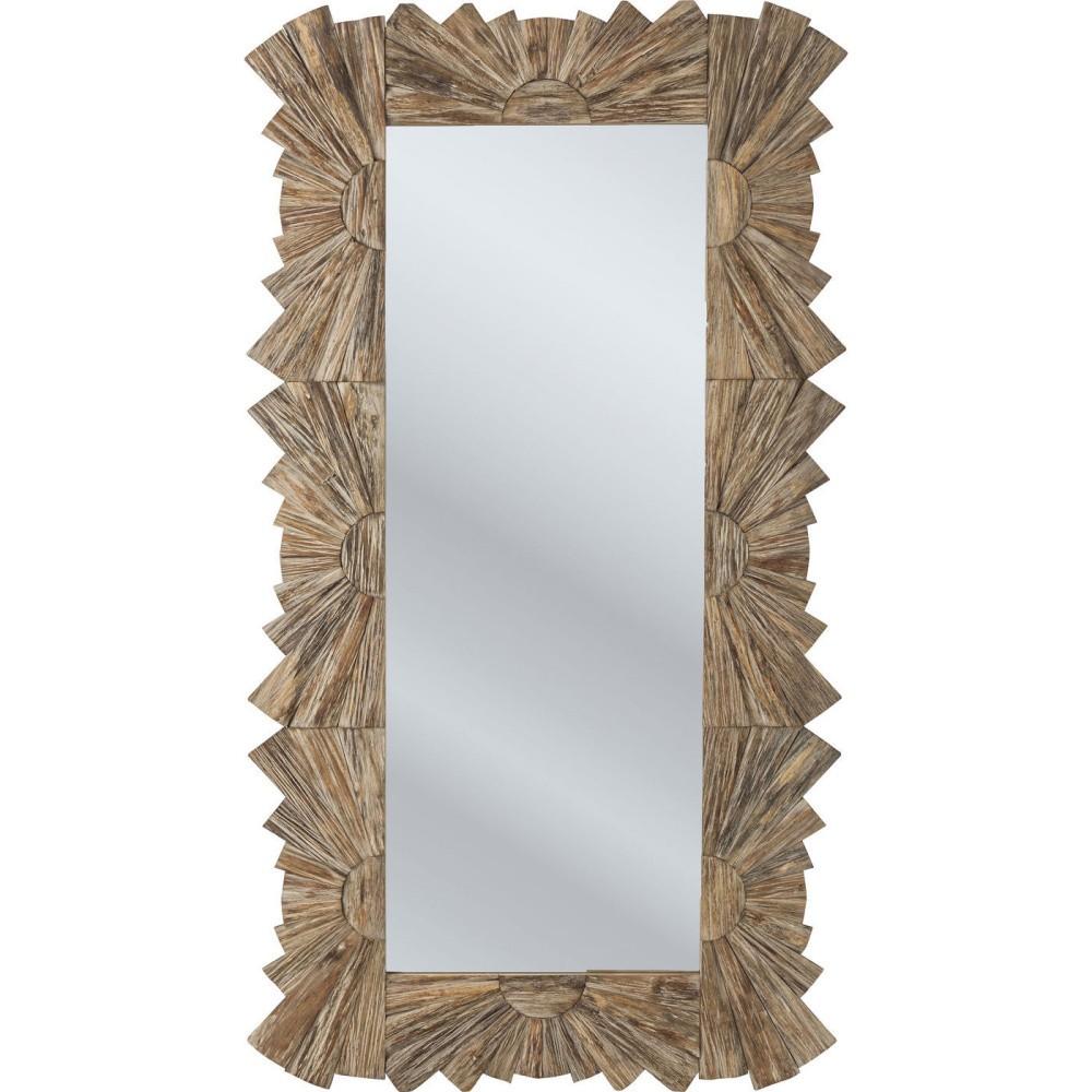 Zrcadlo s rámem ze smrkového dřeva