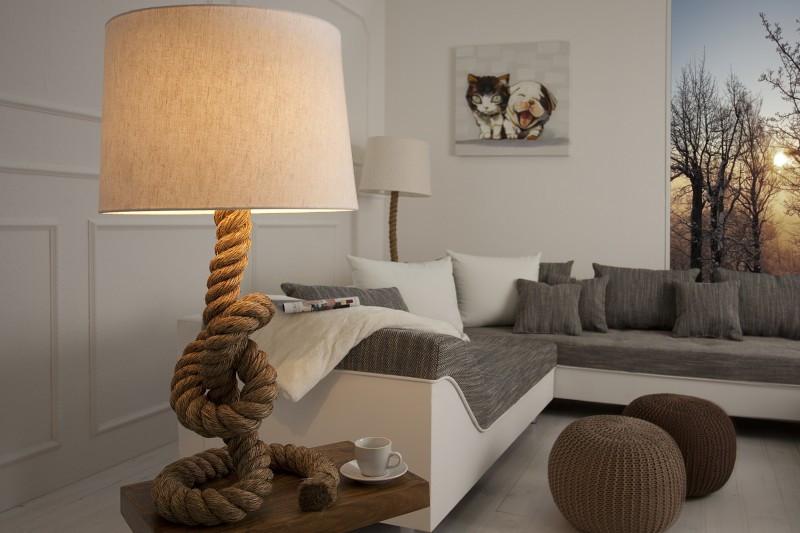 Stolní lampa SEVER SEAN 85 cm - krémová